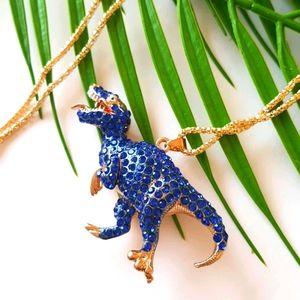 NEW BJ Necklace Dinosaurus Crystal Pendant Chain